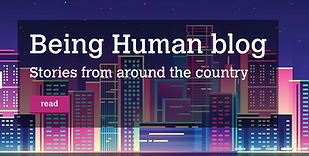 Being Human blog button.
