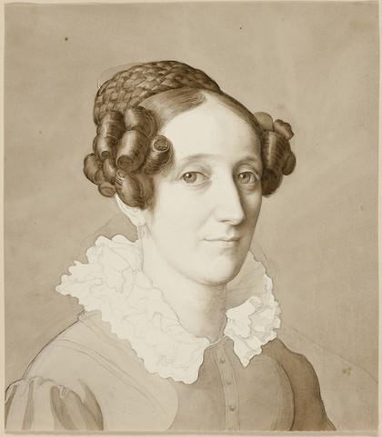 Portrait of a Woman. Date: 1821  Artist: Julius Schnorr von Carolsfeld German, 1794-1872
