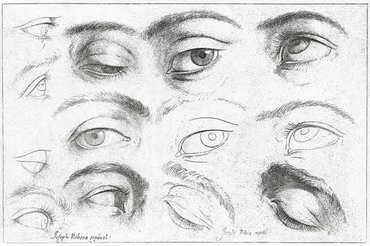 Studies of eyes (1630–1640) by Jusepe de Ribera.