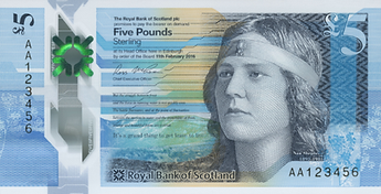 Image: Nan Shepherd on the Royal Bank of Scotland note.