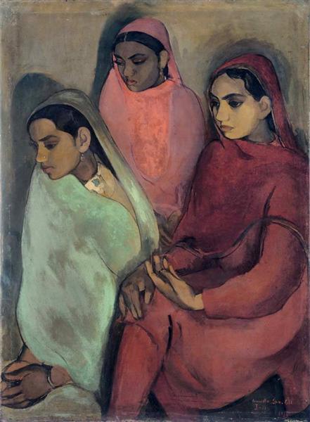 Three Girls, Amrita Sher Gil, 1935