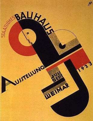 Poster for the Bauhausaustellung, 1923 by Joost Schmidt.