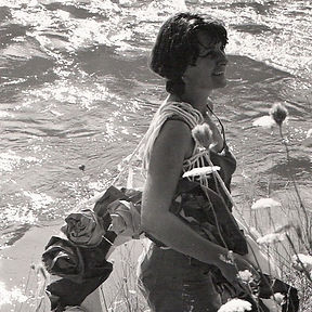 Artist Ree Morton in Maid of the Mist.