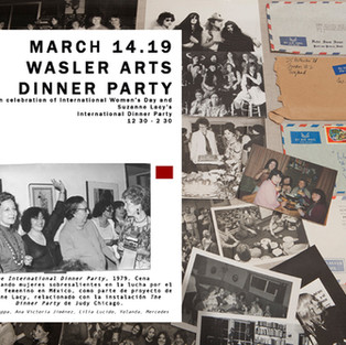 March 14.19 WASLER ARTS DINNER PARTY