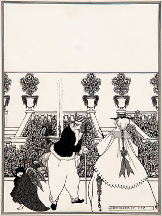 The driving of Cupid from the garden, preparatory drawing for the cover design of The Savoy (no. 3, July 1896)