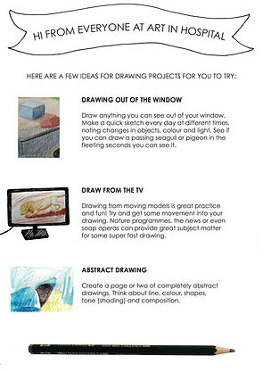 Drawing Ideas sheet includes text and illustrative images.