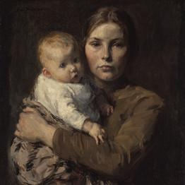 Mother and Child, Date1906, Julius Gari Melchers Art Institute of Chicago (Public domain)