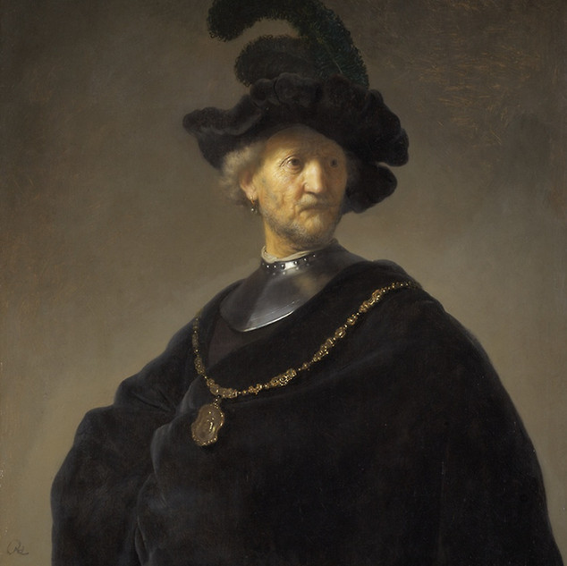 Old Man With A Gold Chain, Rembrandt Harmensz, van Rijn source Art Institute of Chicago (Public Domain)