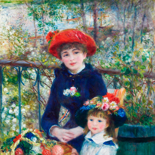Two Sisters (on Terrace) Pierre-Auguste Renoir, 1881 source rawpixel