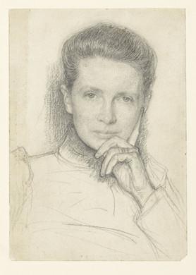 Studie voor het portret van mevrouw K.C. Boxman-Winkler, Jan Veth, 1874 - 1925