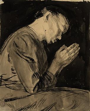 Kathe Kollwitz, Praying woman, 1892. Musée d'art moderne et contemporain of Strasbourg