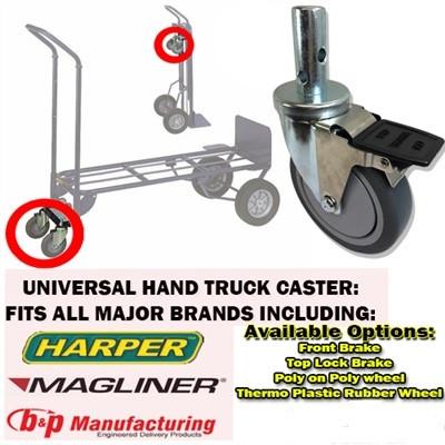 Hand truck caster