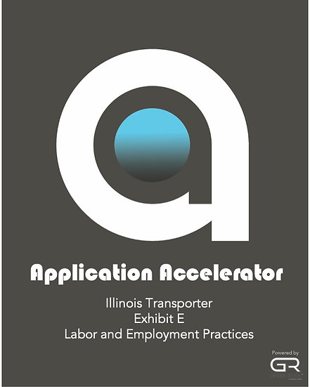 Illinois Transporter Application Accelerator Exhibit E