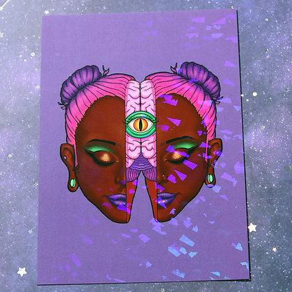 """5x7"""" Holo Print - Split"""