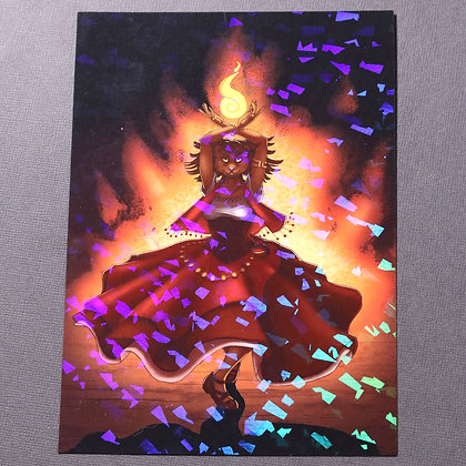 """5x7"""" Holo Print - Dance with Fire"""