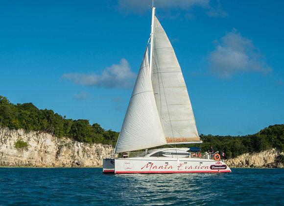 MARIE -GALANTE Départ Sainte-Anne Catamaran Voiles Adulte 90€