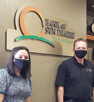 Sun Prairie Banking student Tara W & Men
