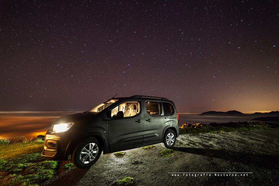 Desde el mirador de Alisas (Cantabria) salida de fotografía nocturna, Febrero 2020