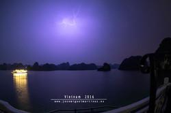 Tormenta en la bahía de Ha Long