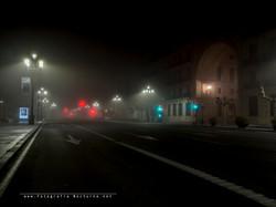 Santander con niebla