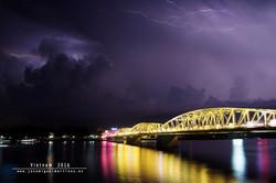 Tormenta en Huế (Vietnam)
