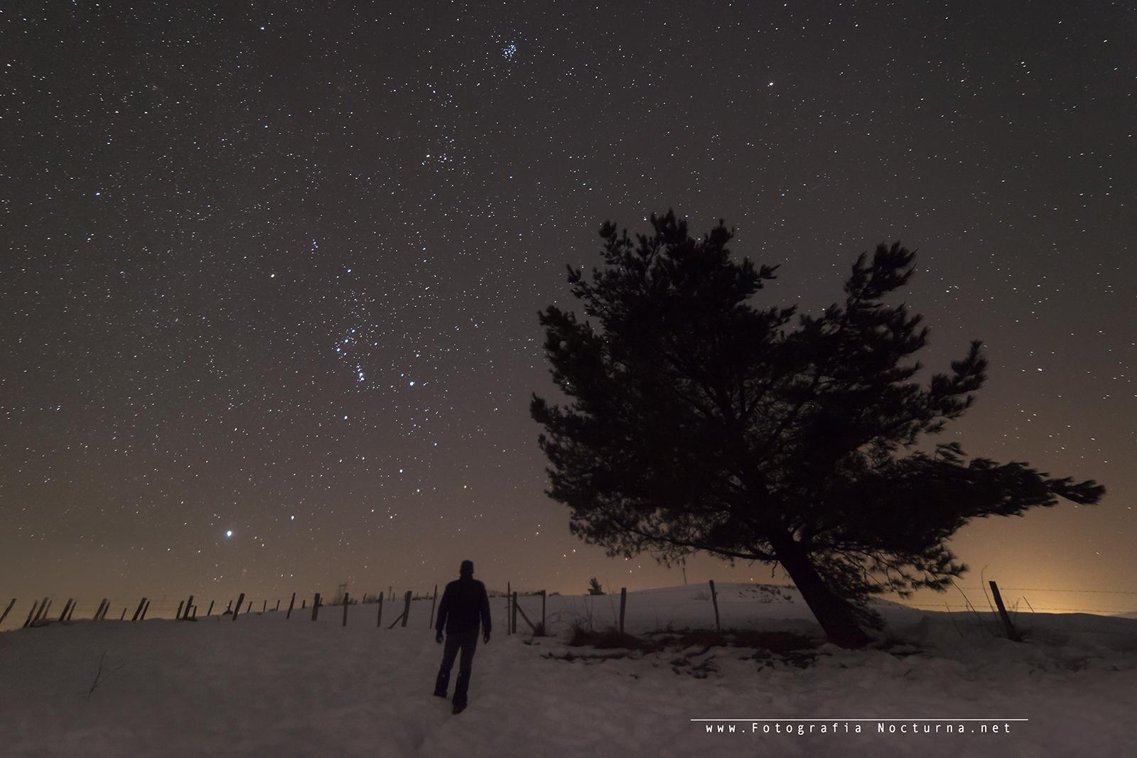 Constelación de Orión y las Pléyades