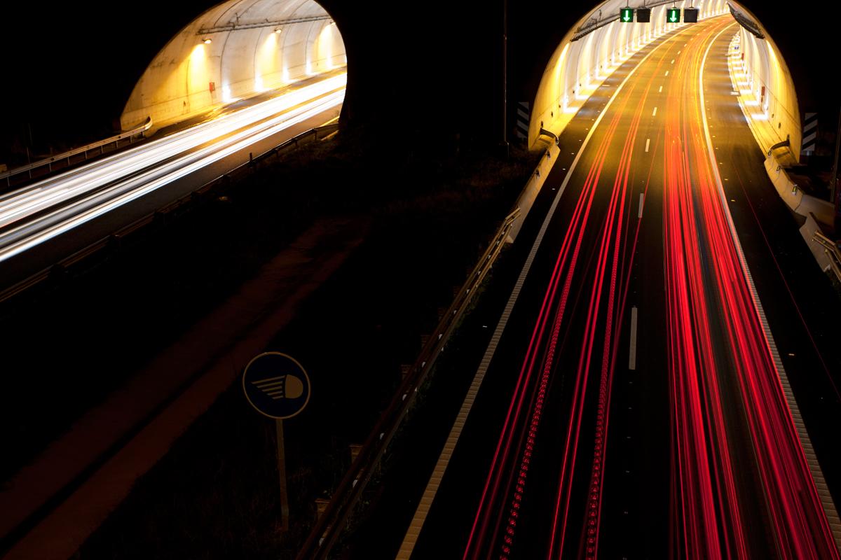 Trazas en túnel