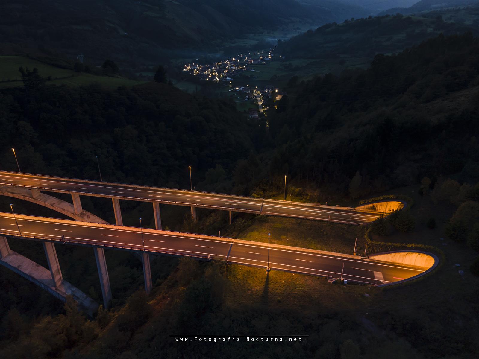 Puente en hora azul + noche