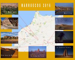 Mapa del viaje a Marruecos