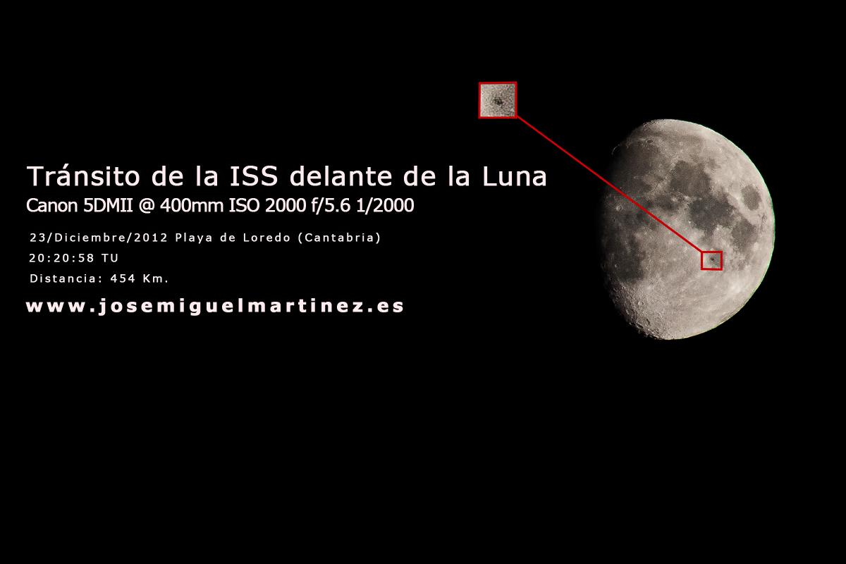 Tránsito ISS delante de la luna