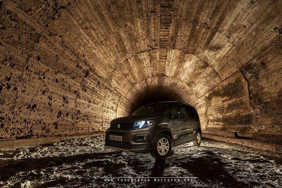 Ruta por pista y pasando tres túneles con el Peugeot  Rifter, podéis ver el vídeo en mi canal de YouTube (Túnel de la Engaña)
