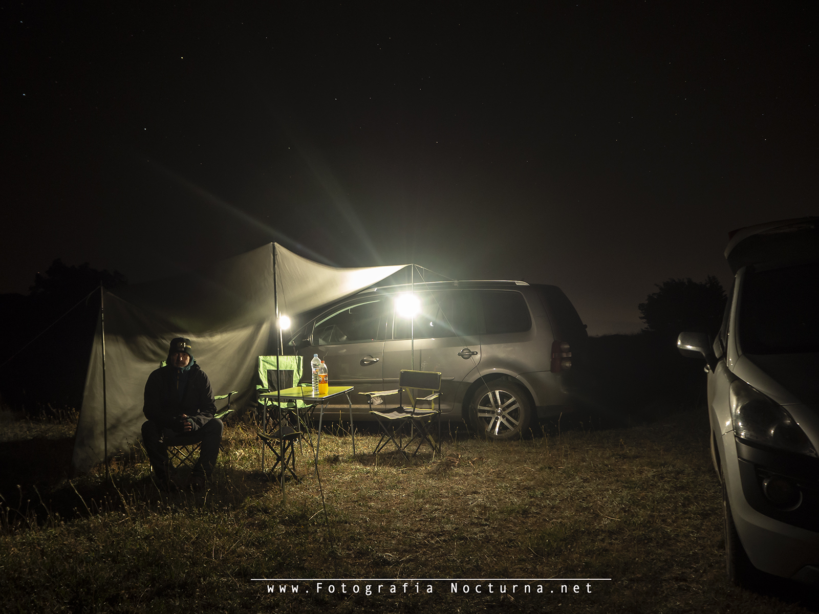 Camp rain of stars Perseids 2018