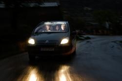 Strobist carretera de montaña