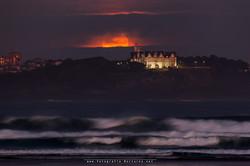 La luna llena por Santander