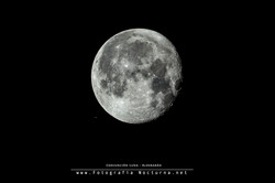 Conjunción Luna y Aldebarán