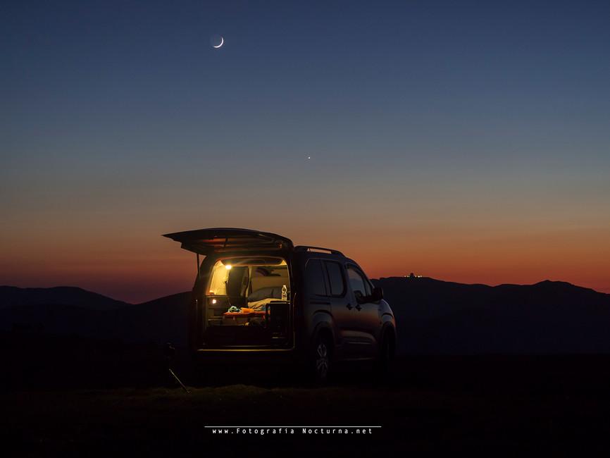 Luna y Venus, aquí pasamos noche (Junio 2021)