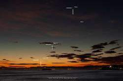Conjunción Luna, Venus y Mercurio