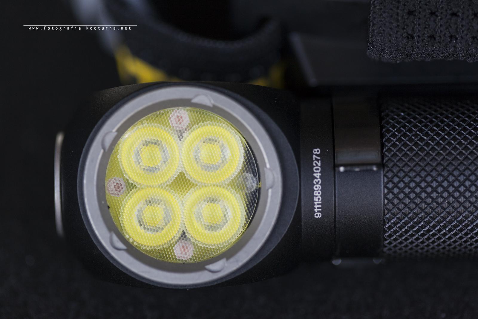Detalle frontal Nitecore HC35