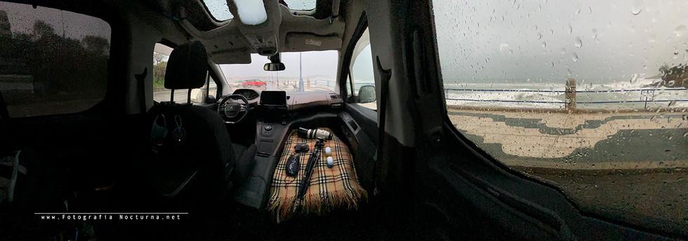 Panorámica desde interior Peugeot Rifter, durante la Borrasca Dora (Diciembre 2020)