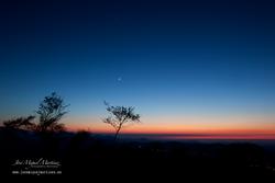 Luna cenicienta y Venus