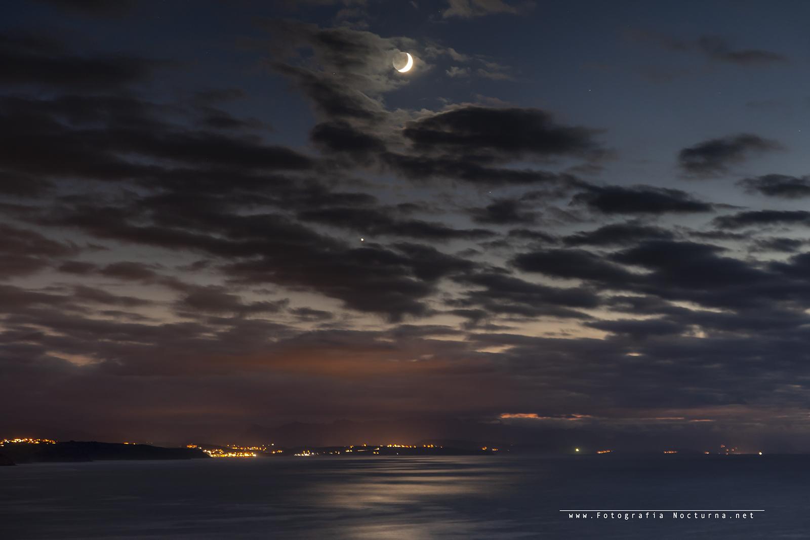 Conjunción Luna y venus