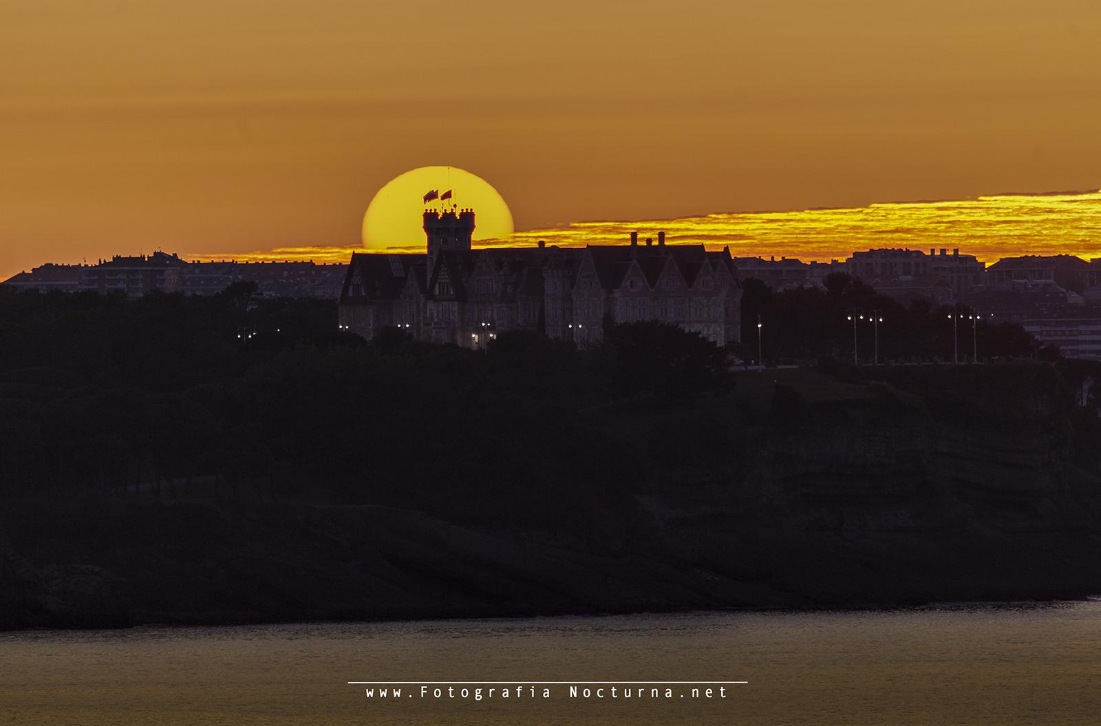 Sol por palacio de la Magdalena