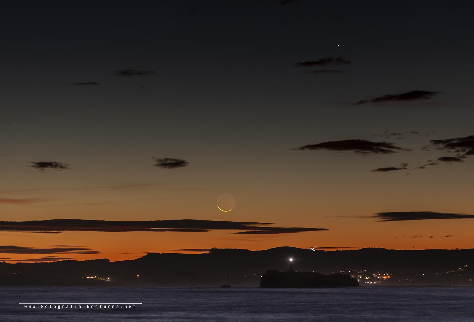 Conjunción Luna y Mercurio
