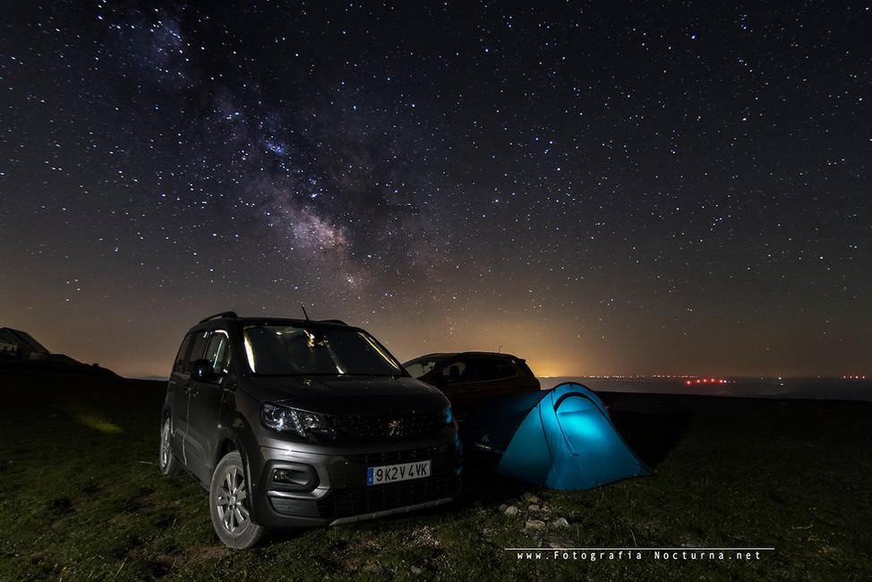 Campamento nocturno en Picón Blanco (Junio 2021) Foto de: Miguel