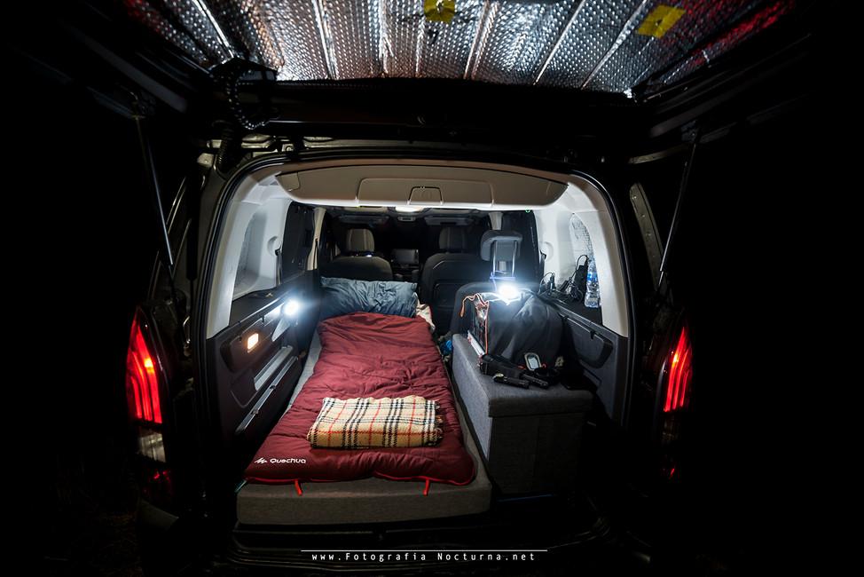 Todo preparado para dormir en la localización, norte de Burgos (Agosto 2020)
