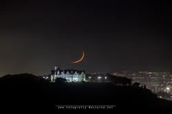 La luna y el Palacio de la Magdalena