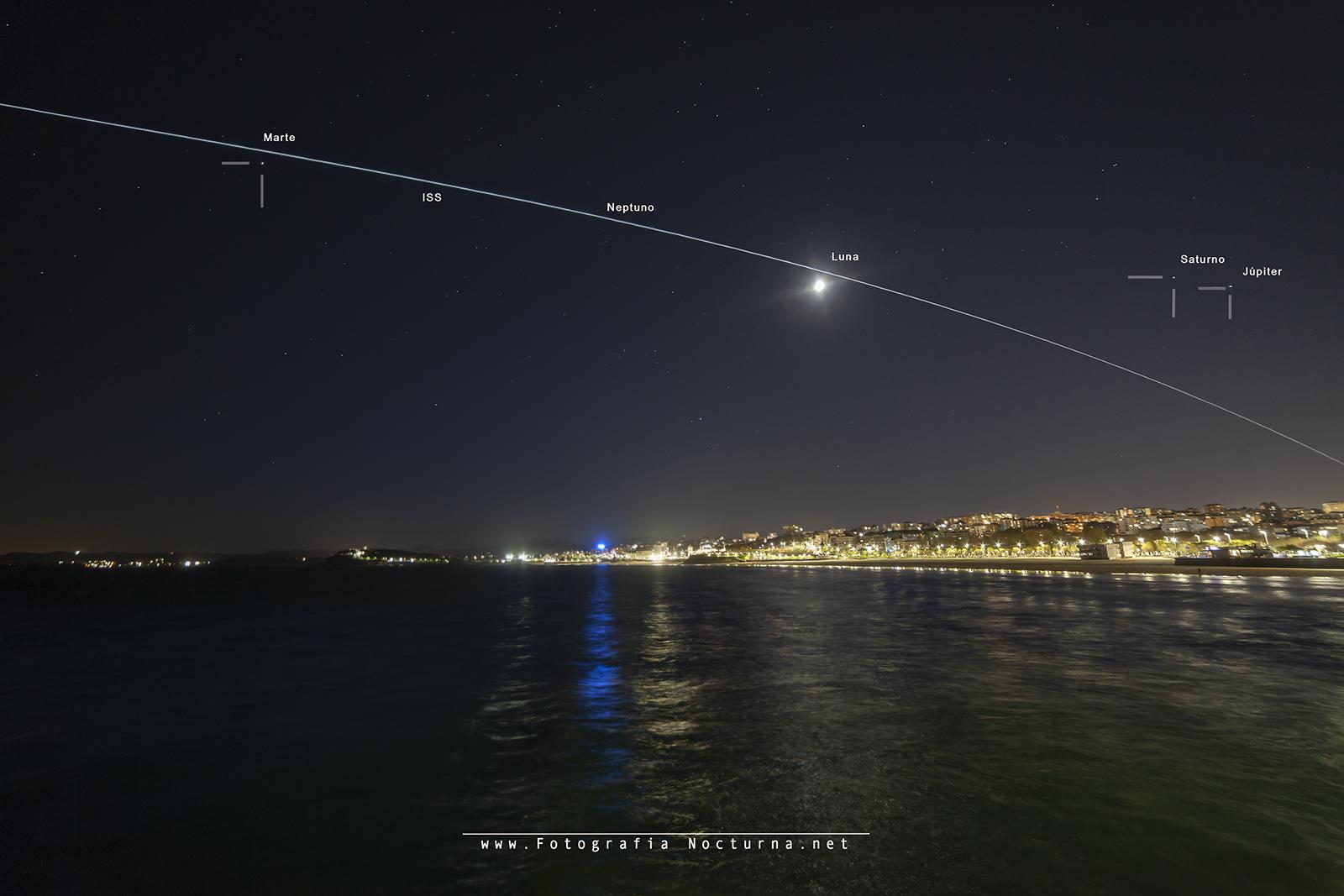 La ISS desde el Sardinero