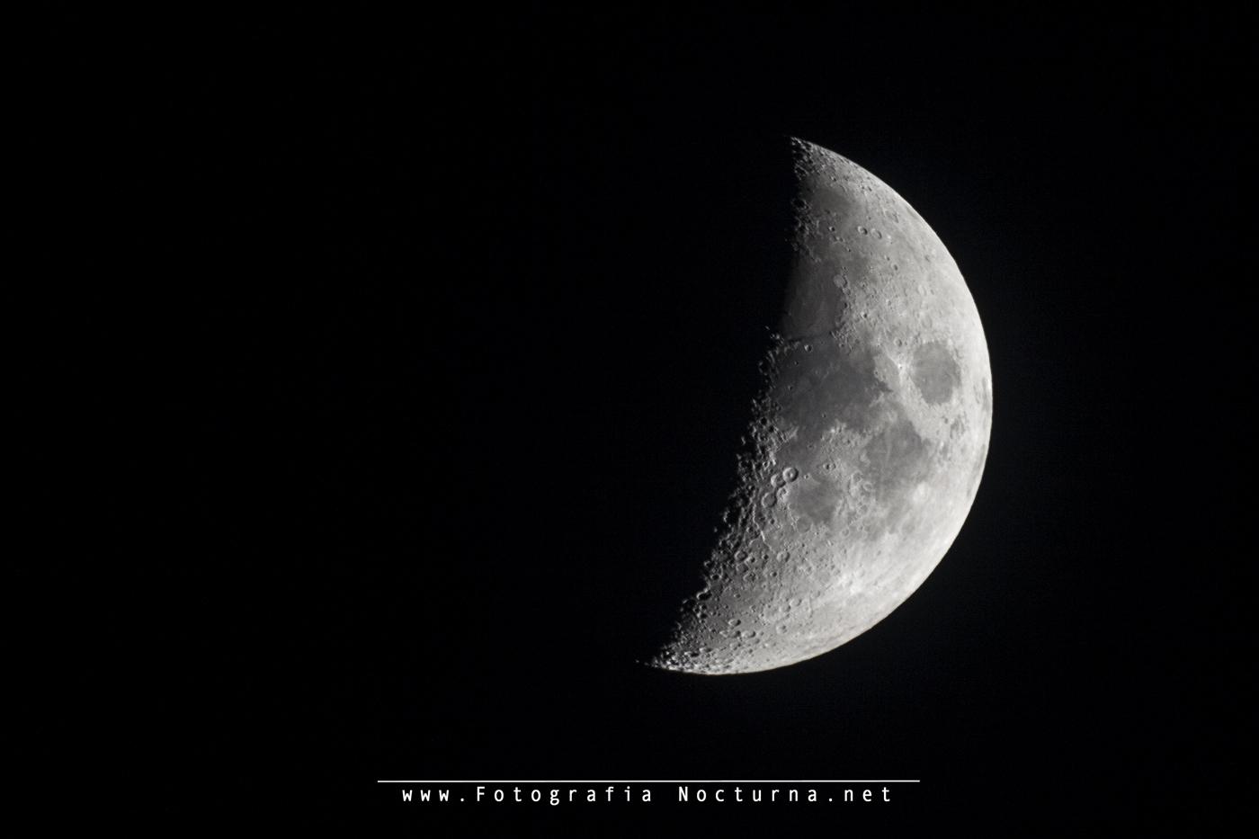 La luna en cuarto creciente