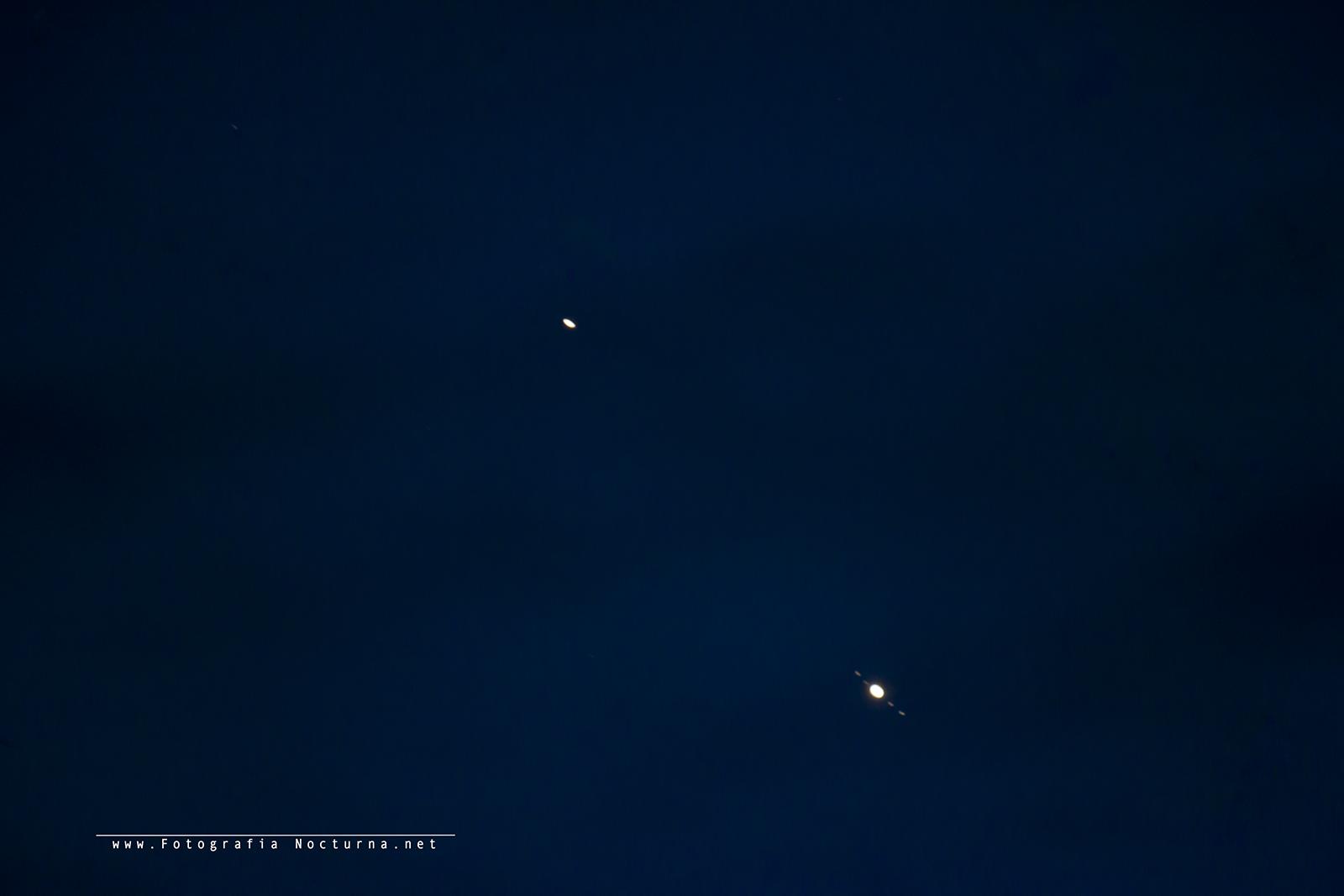 Conjunción Júpiter y Saturno