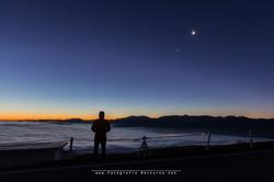 Conjunción Luna, Venus y Júpiter